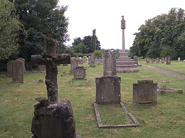 All Saints churchyard and War Memorial