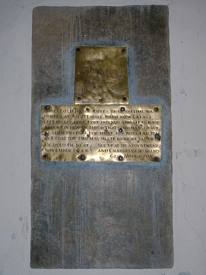 Memorial to Thomas Cotes of Wing